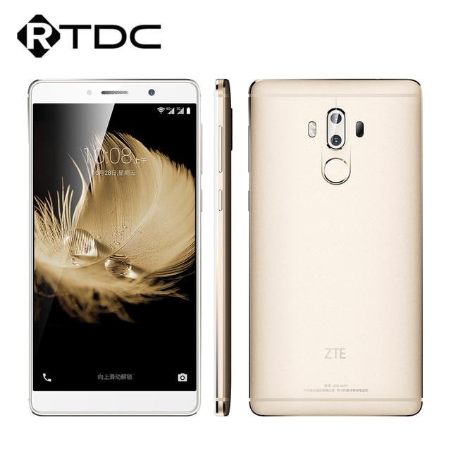"Original ZTE Snapdragon Axônio 7 Max 625 Octa Núcleo 2.0 GHz 13.0MP + 13.0MP 6.0 ""FHD 4G LTE Mobile Phone 4 GB RAM 64 GB ROM impressão digital"