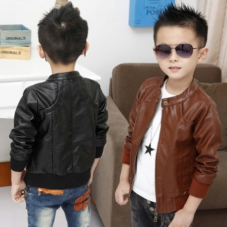 37584ee1a RETAIL! 2014 new models boy PU Jacket Kids Leather Coat Children ...