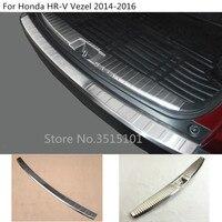 Car cover Inner outside inside built rear Bumper threshold trim plate pedal 1pcs For Honda HRV HR V Vezel 2014 2015 2016