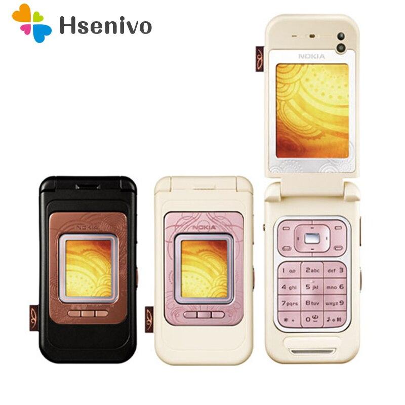 7390 100% Original Unlocked Nokia 7390 GSM One Sim Card FM Bluetooth FM Radio Mobile Phone Free Shipping
