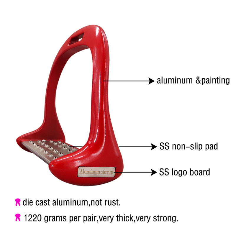 Image 2 - 1 Pair Aluminum Stirrups Anti slip Horse Riding Equestrian Stirrups Horse Equipment Horseback Riding with Paint-in Body Protectors from Sports & Entertainment