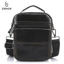 Zzنيك الرجال حقائب جلد طبيعي الذكور حقائب كروسبودي حزام صغير رفرف عادية الرجال الجلود حقيبة ساعي بريد للرجال حقيبة كتف 0051 *