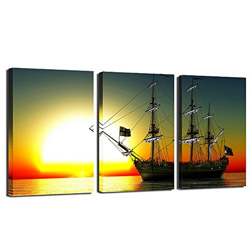 Impressive 30+ Sunset Wall Art Decorating Inspiration Of Deep ...