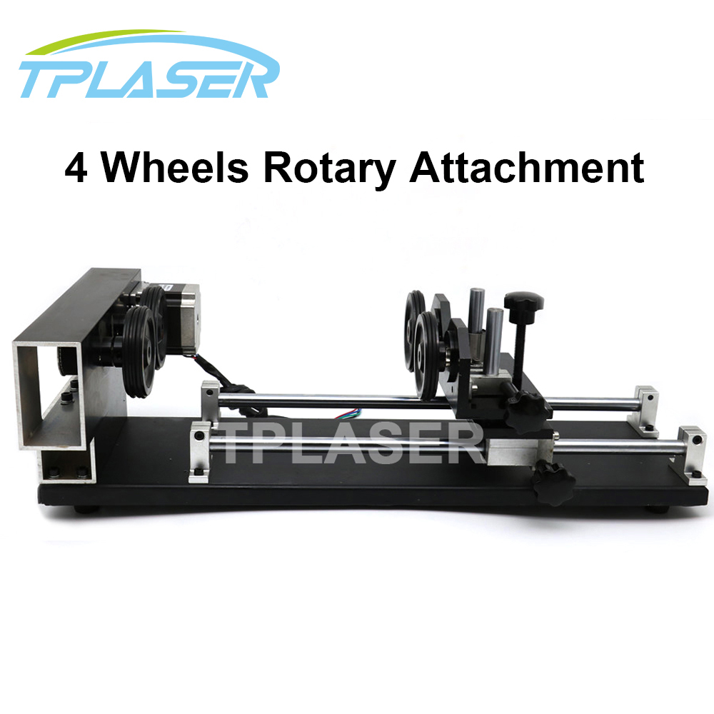 Laser Rotary Attachment 4 Wheels Roller Rotation Axis Rotate Engraving for Laser Engraving Machine engraving art 33 22
