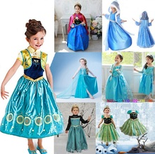 Princess Clothes Girl Dresses Kids Costume 16 Styles Kids Halloween Party Dress