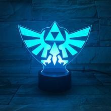 Game The Legend of Zelda Logo Table Lamp Decorative Touch Sensor Child Kid birthday Gift Nightlight Night Light LED Bedroom