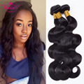 7a Unprocessed Brazilian Body Wave Virgin Hair 3 Bundle Deals Natural Black Human Hair Weave Bundles Qingdao Hot Hair Products