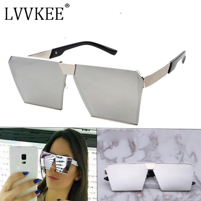 47f618002407 2017 Fashion square Superstar Sunglasses womens or mens luxury Brand  Designer Big size Frame Flat Reflective