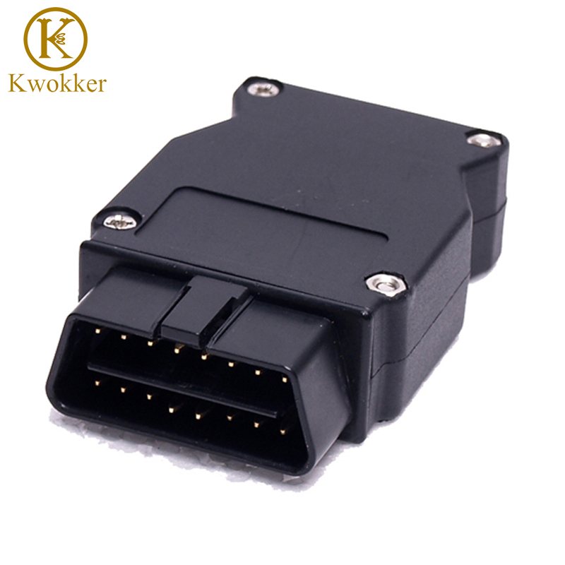 KWOKKER OBD Plug Adapter For Bmw Enet Ethernet To OBD 2 E-SYS ICOM Coding F-series Interface Connector Cable Diagnostic Tool