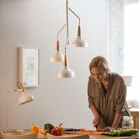 Nordic обеденная огни кухня светильники Современный стиль Творческий подвесной светильник белый Утюг подвесной светильник дома освещение