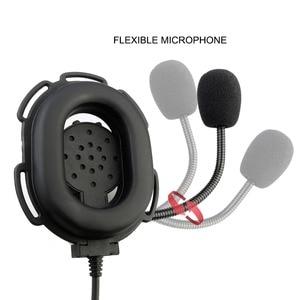 Image 5 - Casque tactique rechape EH060K casque militaire Wakie Talkie Airsoft jeu Microphone pour Kenwood ForBaofeng UV 5R/UV82 RT1/RT81