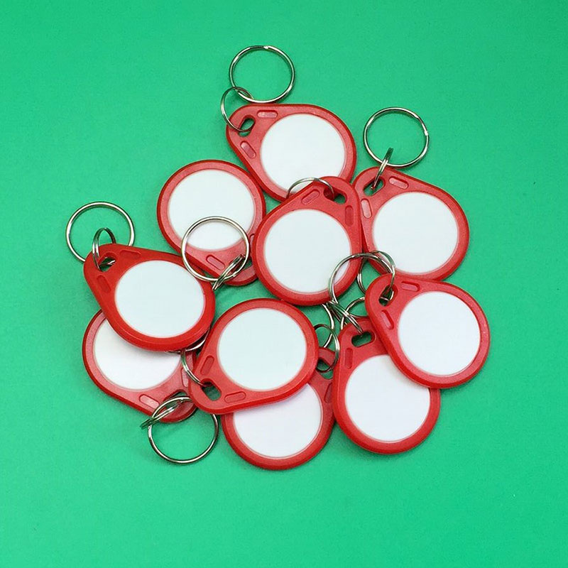 10 pcs writable Tokens 13.56MHz chip Tags IC Card Key Chain Card Access Card for RFID reader keypad access control system