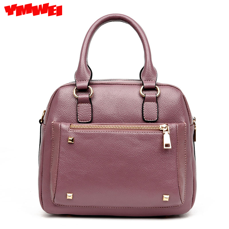 YMWEI Women bags 2017 new PU PiXiaoFang bag handbag fashion rivet high-quality aslant bag shoulder bag free shipping