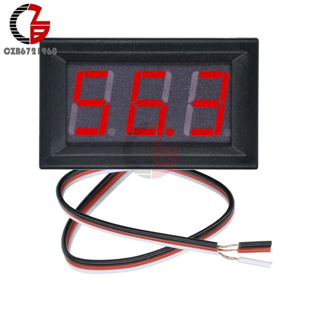 High Accuracy DC 100V 10A Digital Car Voltmeter Ammeter Motorcycle Voltage Indicator Tester Current Meter Replace USB Tester 12V