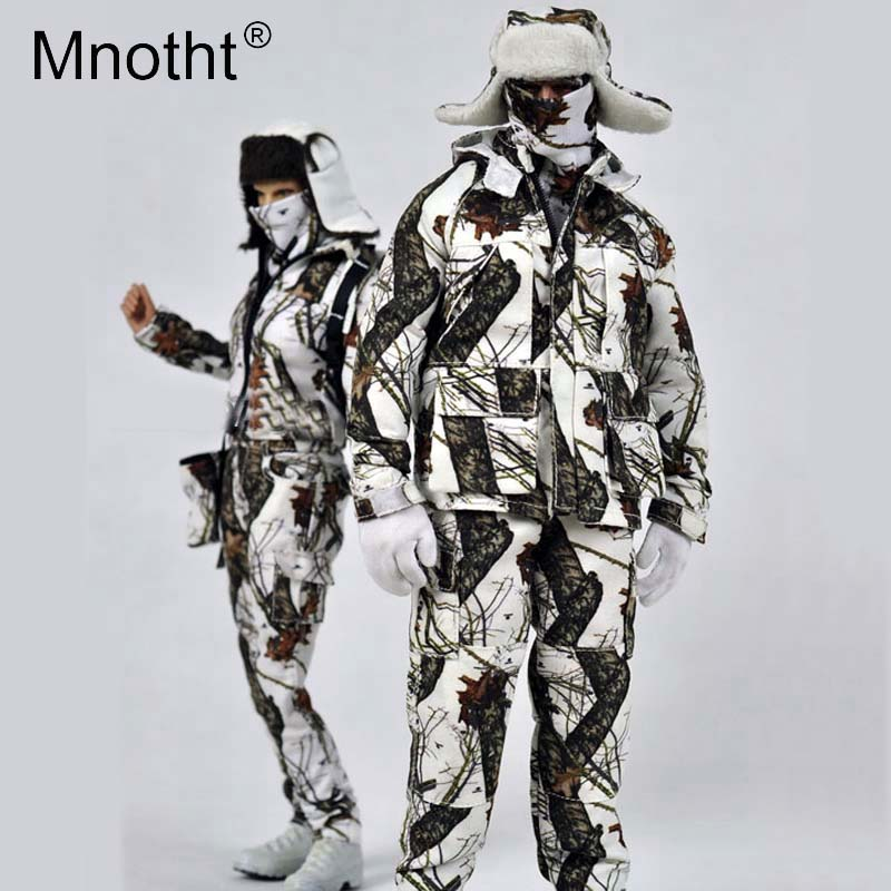 Mnotht Toys 1:6 Scale MCM-007 Snowfield camouflage outdoors suit Model For 12in Action Figure Toys Collection m3