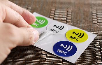 (6 sztuk partia) NFC tagi naklejki Ntag216 NDEF Rfid 13 56 mhz Tag etykiety dla wszystkich NFC telefon z systemem android tanie i dobre opinie lenfc 30mm 868 Bytes