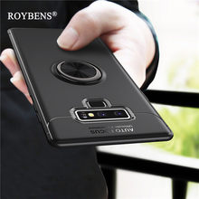 For Galaxy Note 9 Magnetic Car Holder Case Rotate Finger Ring Silicone Cases For Samsung Galaxy Note9 Kickstand Soft TPU Cover(China)