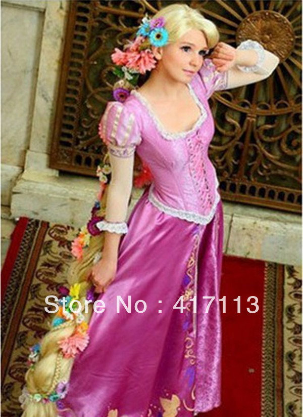 Tangled Princess Rapunzel Cosplay Costume Purple Custom Halloween Party Dress on Aliexpress.com | Alibaba Group  sc 1 st  AliExpress.com & Tangled Princess Rapunzel Cosplay Costume Purple Custom Halloween ...