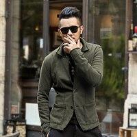 2016 High Quality New Autumn Winter Men Casual Blazer Men S Cotton Suit Jacket Slim Fit