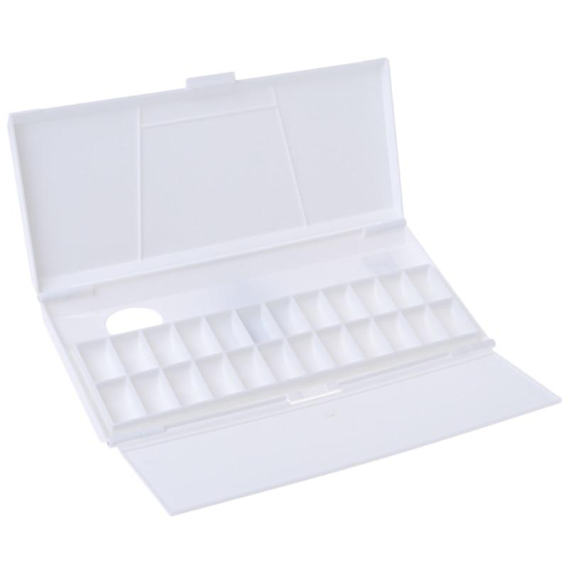 1 pcs Painting Tray Watercolor Paint Palette 24 Grid Professional Art Plastic Palette Art Supplies цена