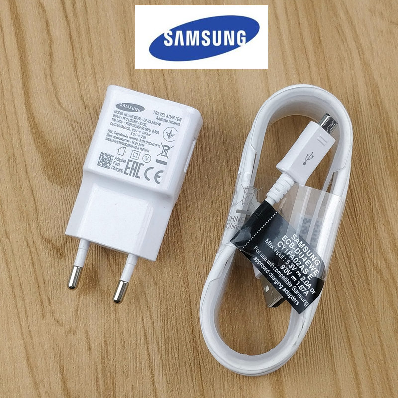 Samsung Fast-Charger S7-Edge White Galaxy A8 Original Note 4 Plus for S6 S3 S4 A6 J3