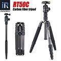 RT50C Углеродного Волокна штатив монопод для камеры dslr легкий Портативный стенд компактный профессиональных рубец для Gopro Лучше, чем Q666C