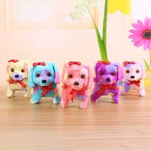Buy Cute Electronic Pets Kids Gift Robot Dog Electronic Dog Pet Walk Bark Puppy Plush Pet Dog Toys For Children Birthday Gifts directly from merchant!