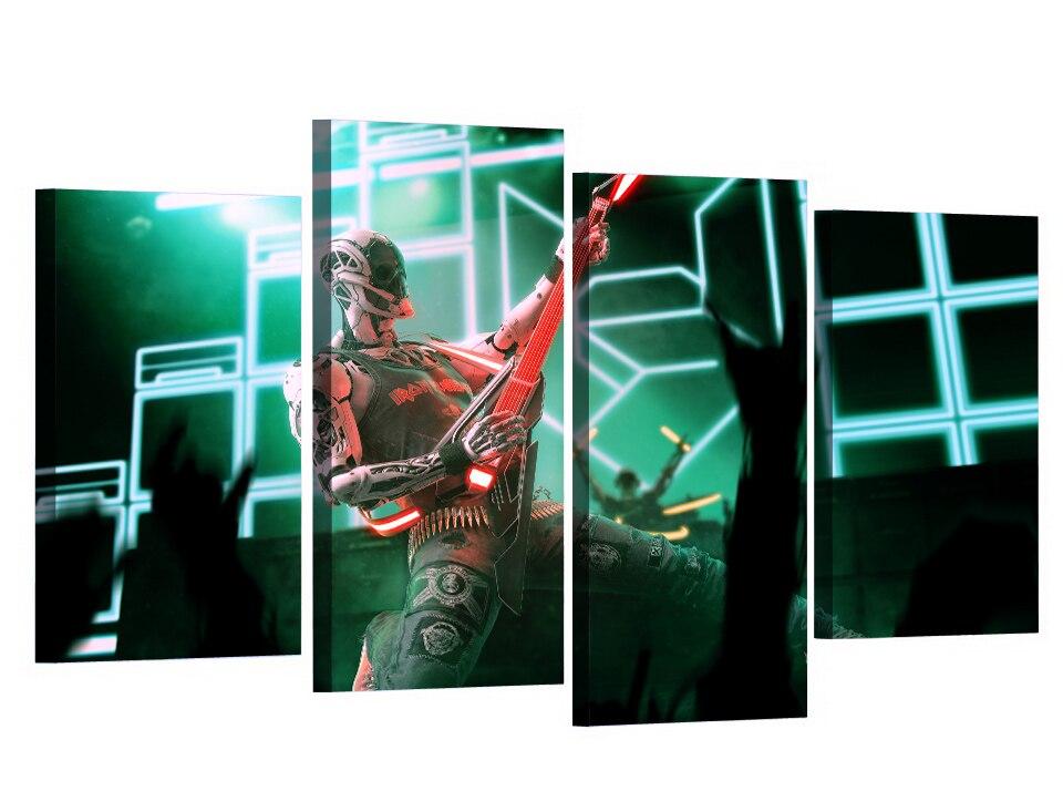4 Teile/satz Gerahmte HD Gedruckt Rocker Roboter Spielen Bild ...
