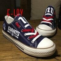 New York Giants USA NFL Premium Team Football Fans Customization Shoes NY Hot Sell Men Women