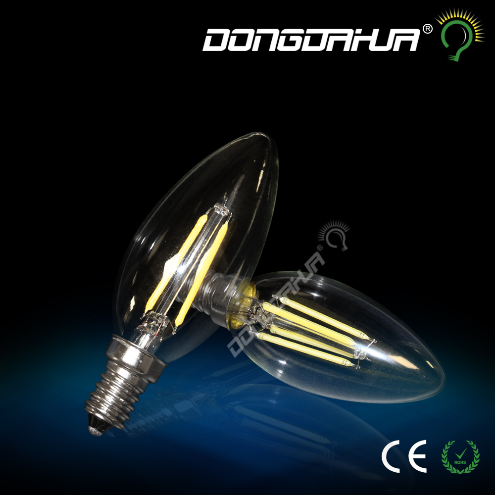 light bulb filament led lamp e14 220v 2 w 4 w c35j led dustproof light
