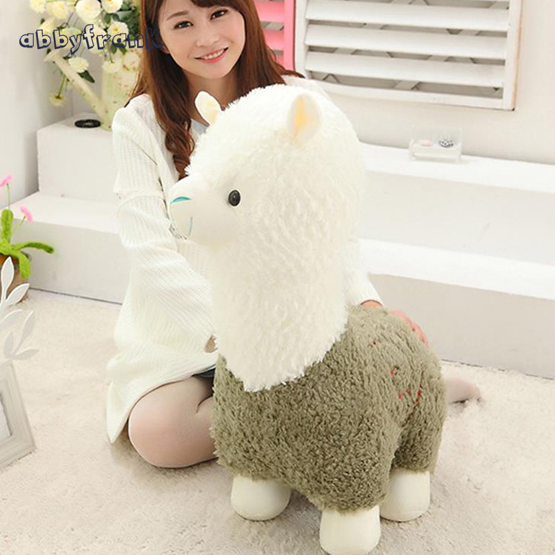 Abbyfrank 40cm Alpaca Stuffed Toys Animal Kawai Soft Plush Toys Animals Alpaca Llama Yamma Fabric Sheep Doll For Children Gift big size 45cm japanese alpacasso soft toys doll kawaii sheep alpaca plush toys giant stuffed animals toy kids christmas gift