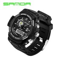 Sanda Top Luxury Brand Watch Men Sport Analog Digital Clock 5 Colors Waterproof Led Electronic