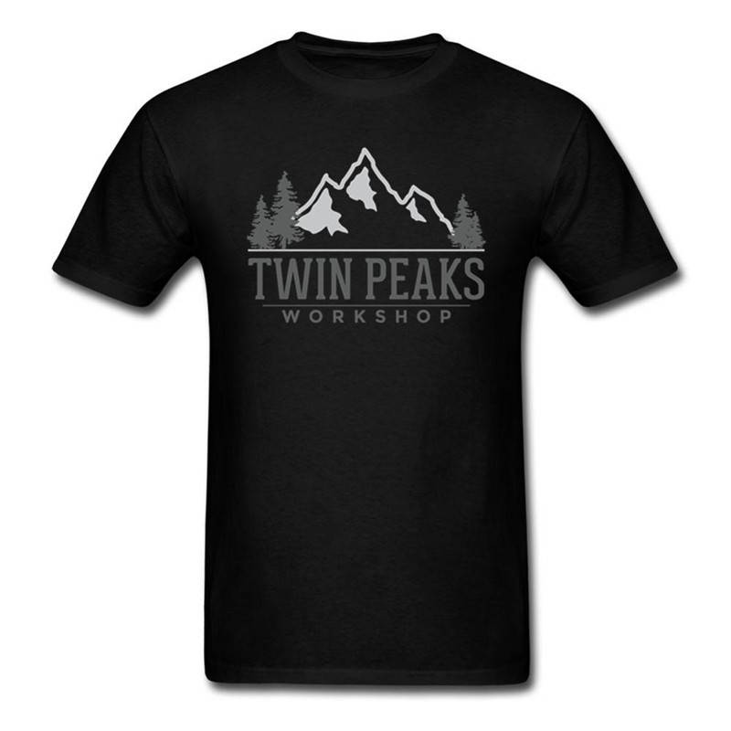 T Shirt Sale Twin Peaks O-Neck Short Sleeve Fashion 2018 Tees For Men