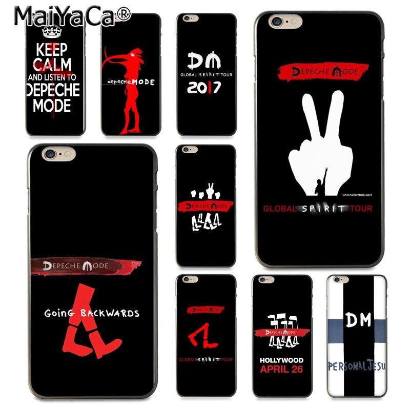 MaiYaCa Depeche Mode Хит продаж дизайн кожа тонкая cell чехол для iPhone 8 7 6 6 S Plus X 10 5 5S SE 5C Coque Shell