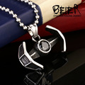 Beier new store star wars 316L Stainless Steel pendant necklace  high quality Darth Vader's spacecraft jewelry BP8-143