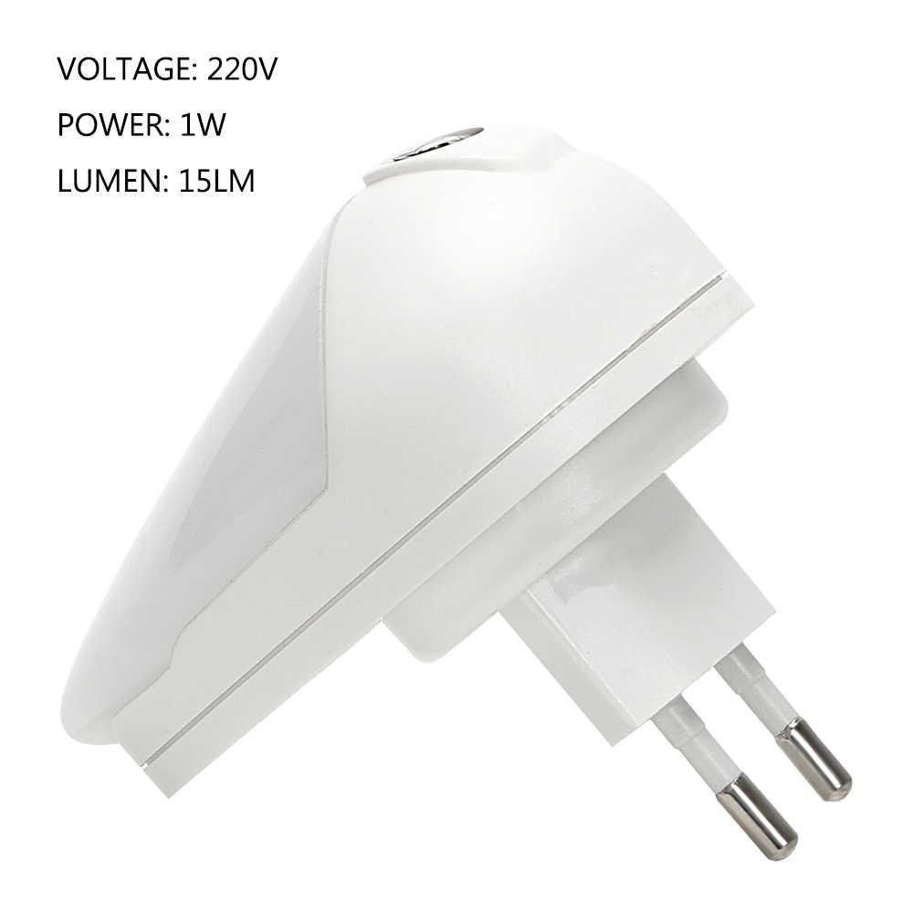 ITimo enfants chambre lampe LED veilleuse intelligente capteur de lumière prise murale lampe gouttes d'eau forme 1W EU prise 90 degrés Rotation