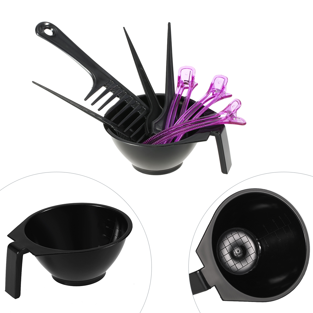 Online color mixer tool - 8pcs Set Hair Dyeing Kit Hair Color Mixing Bowls Hairdressing Dyeing Brush Comb Sectioning Clips