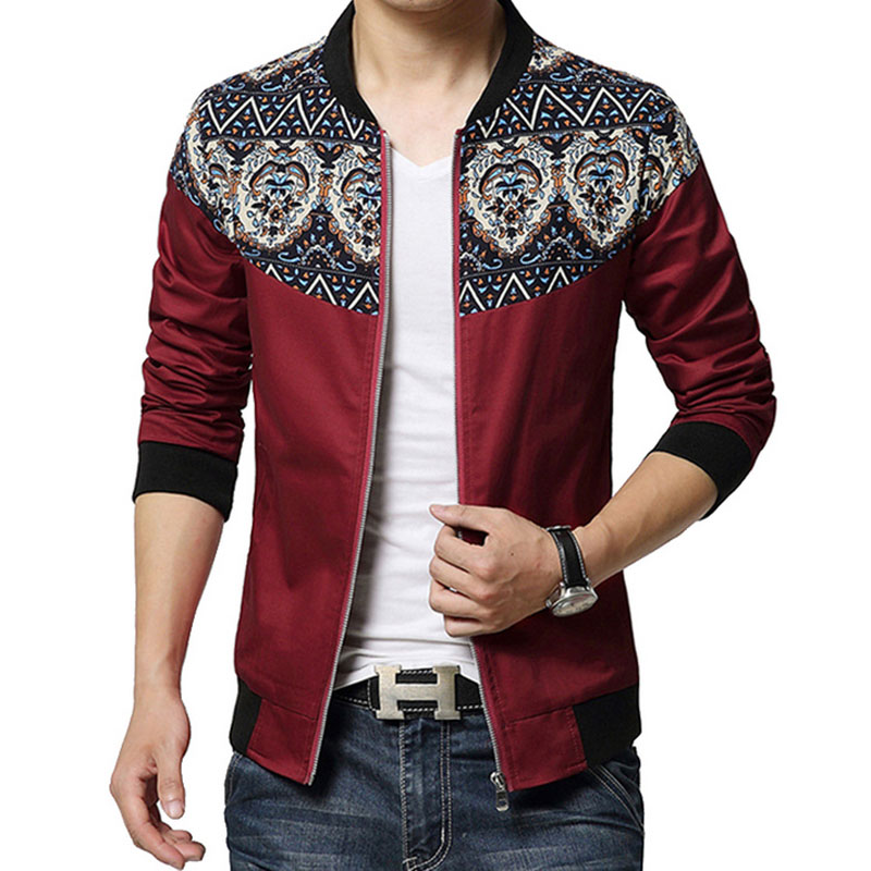 Buy European Printed Design Jacket Men