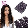 Top hair extensions malásia profunda curly virgem cabelo 4 bundles aliexpress 8a mega cabelo malaio onda profunda do cabelo frete grátis