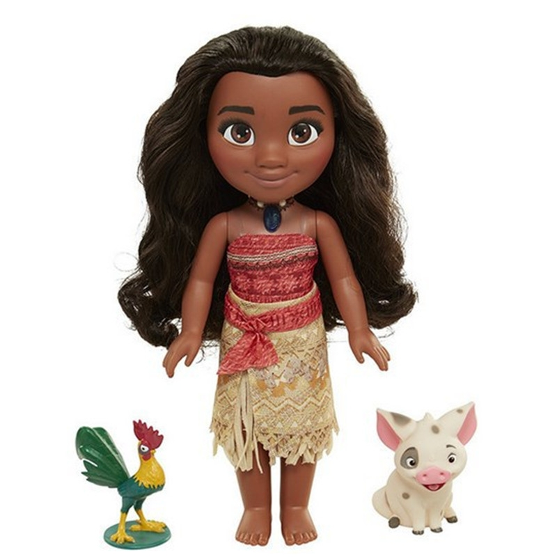 38*30*12cm Moana Figures Cartoon Music Moana Talks Sing How Far I'll Go Light and music toy Soft Stuffed Dolls Gift Toy for Kids