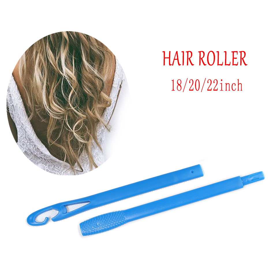 Купить с кэшбэком 2018 hot Free shipping hair curlers rollers 18pcs 30cm   hair curlers  bigoudis  curler hair roller set as you seen