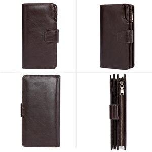 Image 3 - JOYIR Luxury Brand Business Men Wallets Genuine Leather Man Handy Bag High Capacity Long Wallet for Mens 2018 New Clutch Wallets