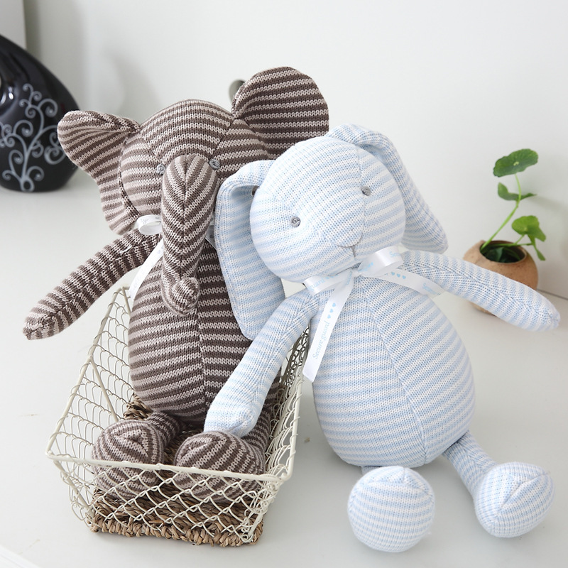 Nordic Ins Style Bunny Elephant Cushion Plush Stuffed Toy Bunny Toy Doll Baby Bedroom Decoration Children Gift New Elephant Toy