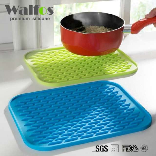 2pcs Multifunction Non-slip Heat Resistant Mat Coaster Cushion Placemat Pot Holder