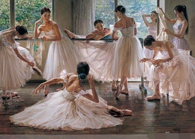 Famous Ballerina Canvas Painting