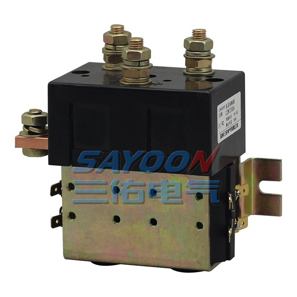 цена на SAYOON DC 84V contactor CZWT200A , contactor with switching phase, small volume, large load capacity, long service life.