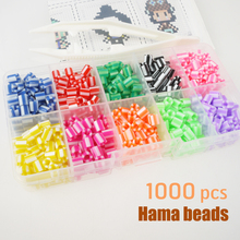 Хама/перлер/предохранитель/железо/вместе/дверные бусины забавные 3D сплавные заправки цветные детские игрушки для рукоделия игры модные украшения 1000 шт