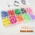 Hama/Perler/Fuse/Iron/Together/Door beads Fun 3D Fusion recargas Color Kids Craft toys diy games joyería unids de moda 1000 piezas