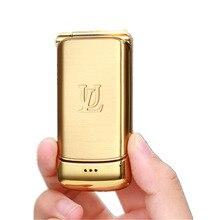 Супер мини флип-телефон Ulcool V9 Bluetooth Dialer 1.54nch маленький экран fm-радио анти-потеря карманный мобильный телефон