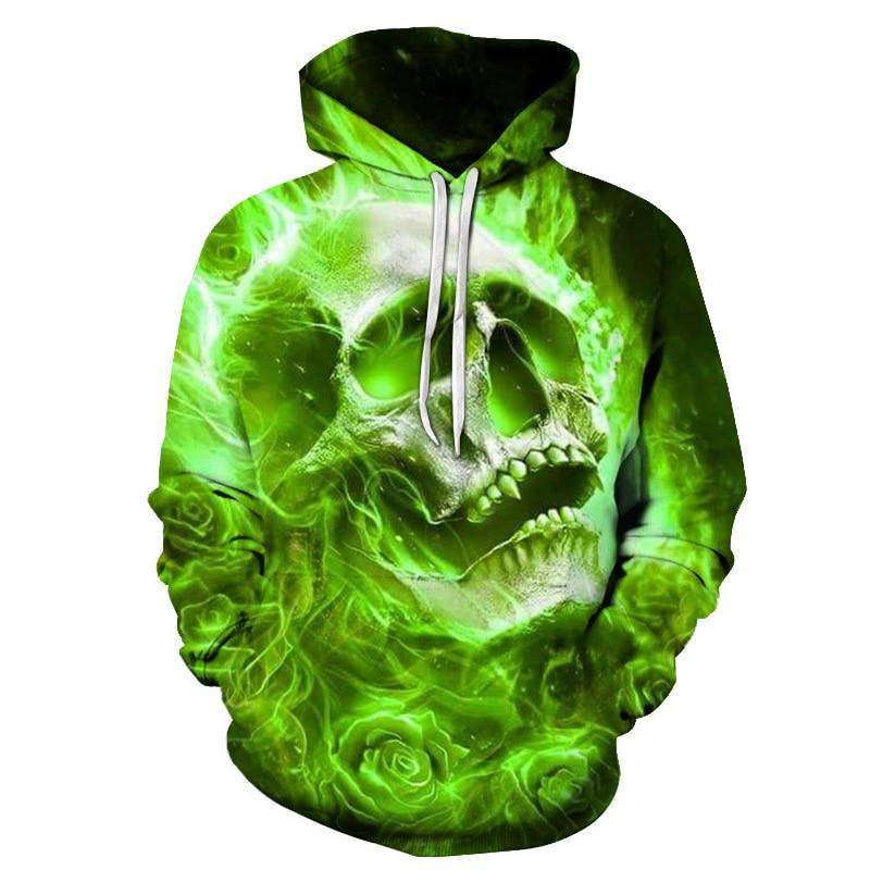 2018 3d horror skull pocket hoodie, mens fashion autumn/winter skull harajuku sportswear, hip hop sportswear brand hooded sweat